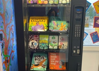 Vending machines to inspire love of reading